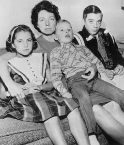 Marie Tippet and Her Three Children
