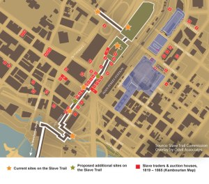 Map of the Richmond Slave Trail with Proposed Future Development