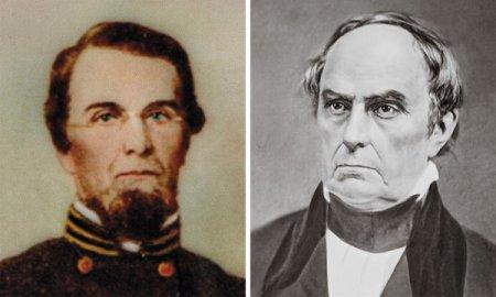 Benjamin Yancey, Jr (left) and Senator Daniel Webster